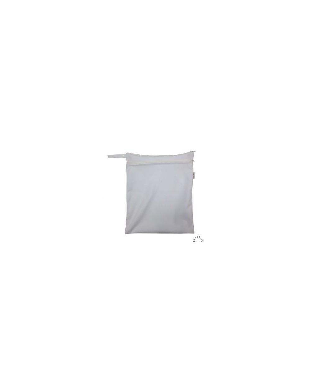 Popolini - Borsa Nappy zipper impermeabile pannolini e piscina bianco