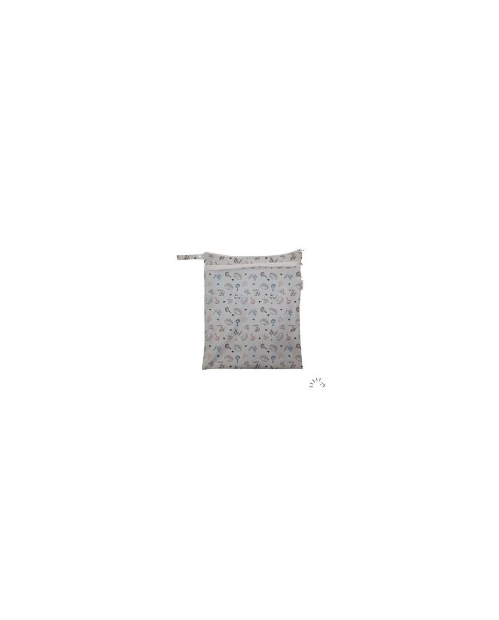 Popolini - Borsa Nappy zipper impermeabile pannolini e piscina woodland