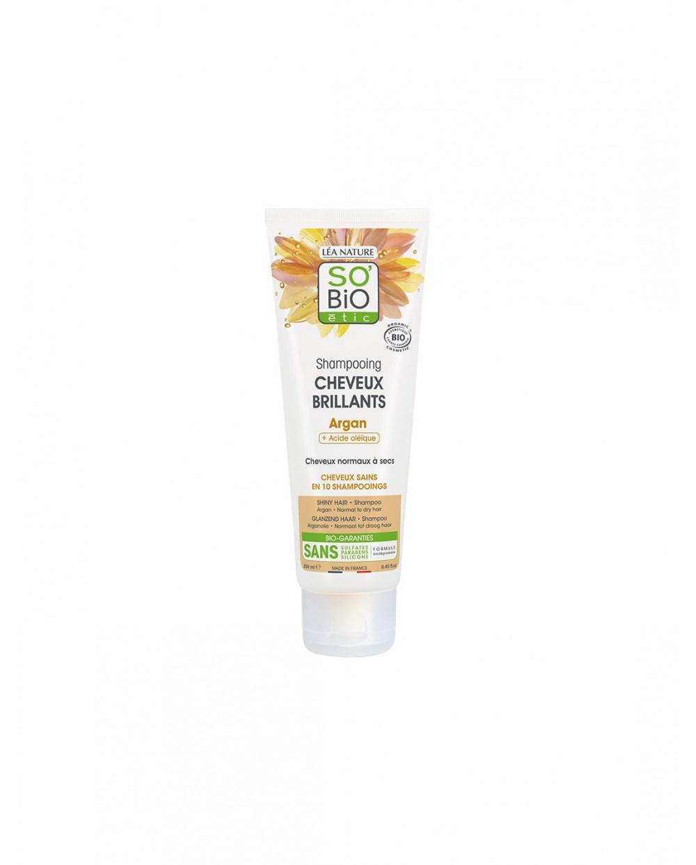 So' Bio Étic - Shampoo brillantezza Argan e  Acido jaluronico 250ML