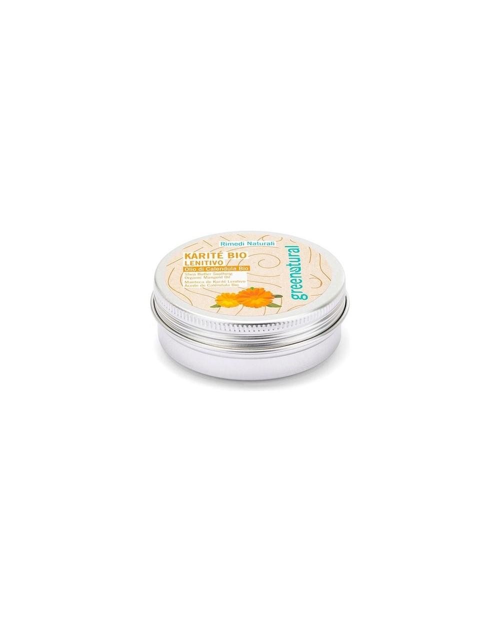 Greenatural - Burro di Karitè Bio con Olio di Calendula Bio Lenitivo 50ML