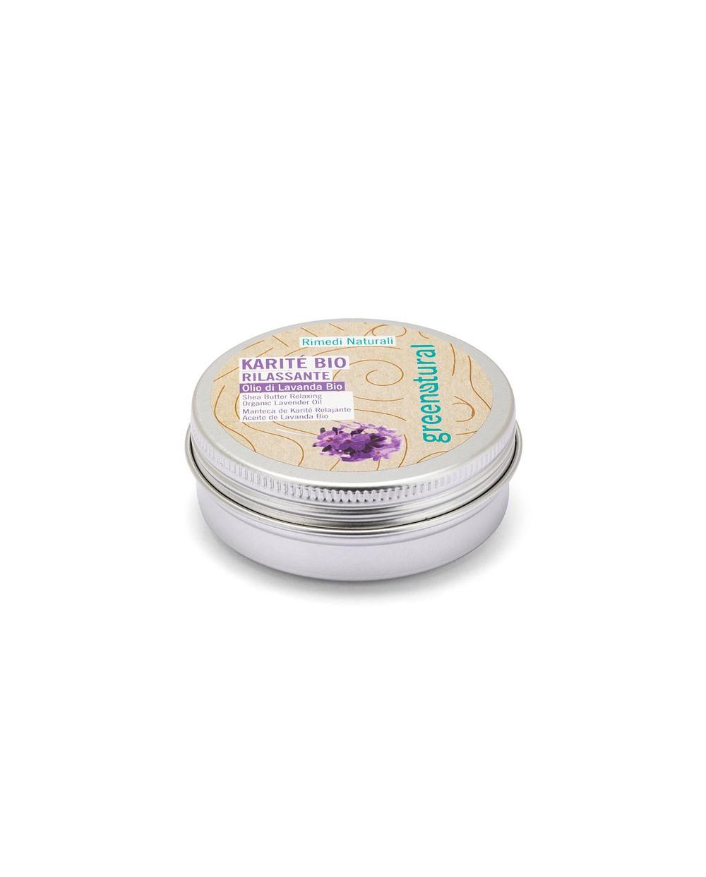 Greenatural - Burro di Karitè Bio con Olio di Lavanda Rilassante 50ML