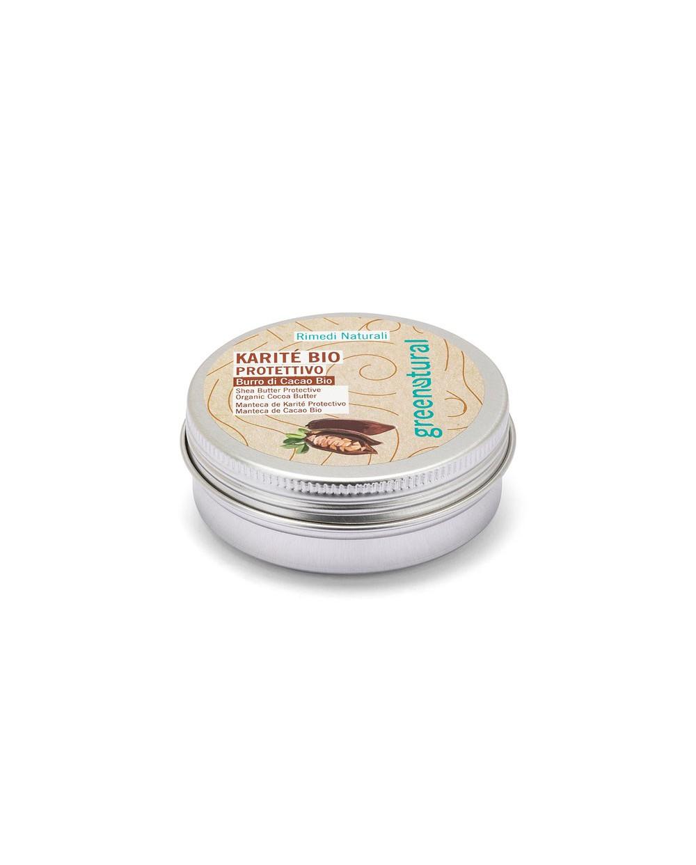 Greenatural - Burro di Karitè Bio Burro di  Cacao Bio Protettivo 50ML