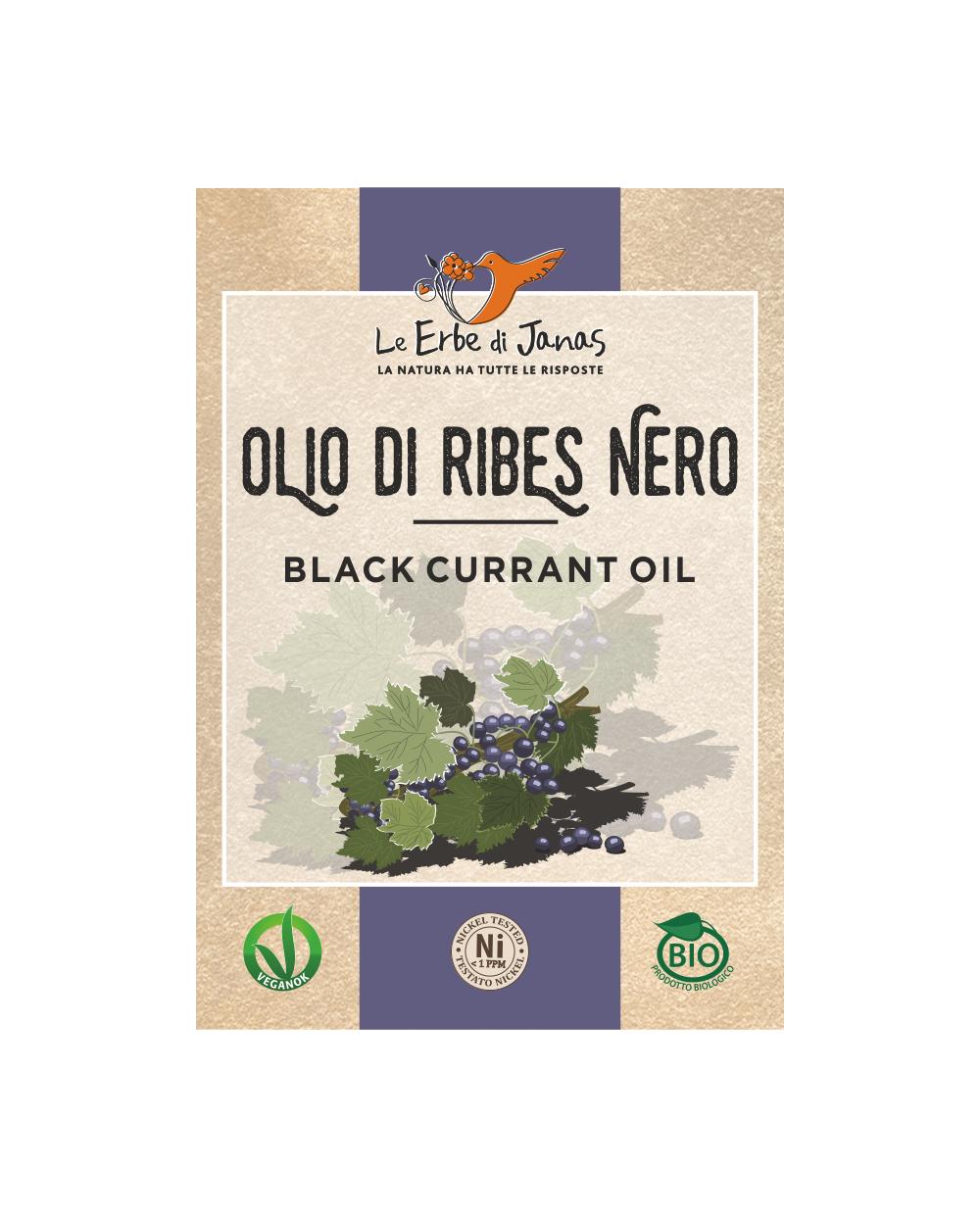 Le Erbe di Janas - Olio di ribes nero