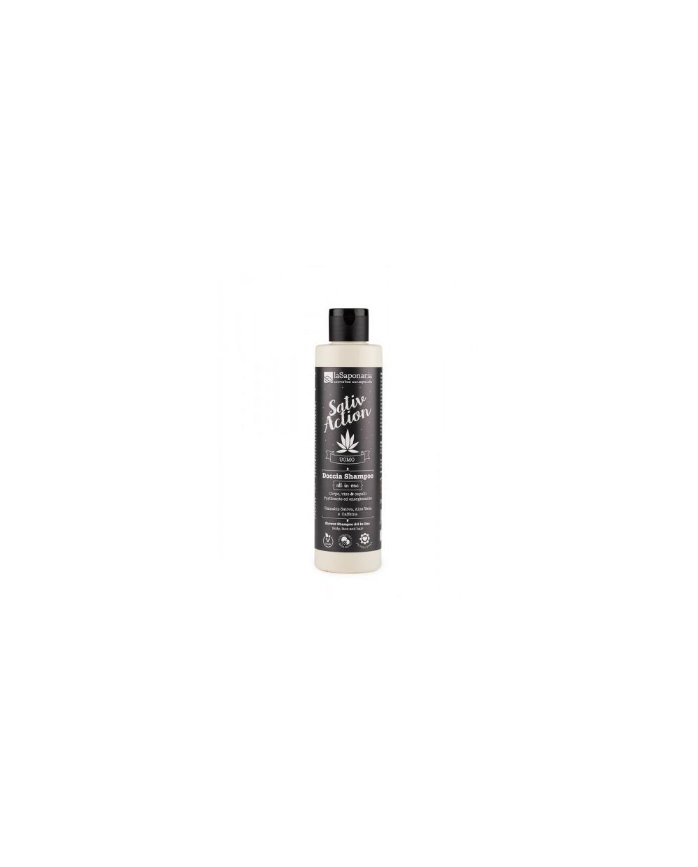 La Saponaria - linea uomo - Doccia Shampoo All in one