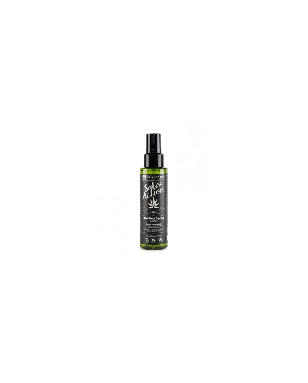 La Saponaria - linea uomo - Biodeo Spray Canapa