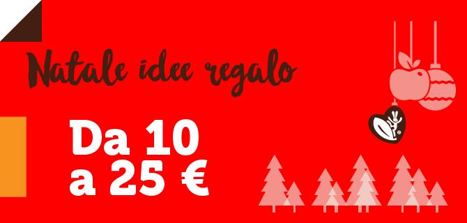 Idee regalo per Natale da 10 a 25