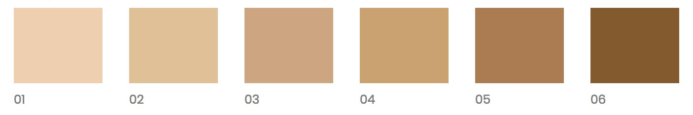 Fondotinta PuroBIO Cosmetics tonalità x 6